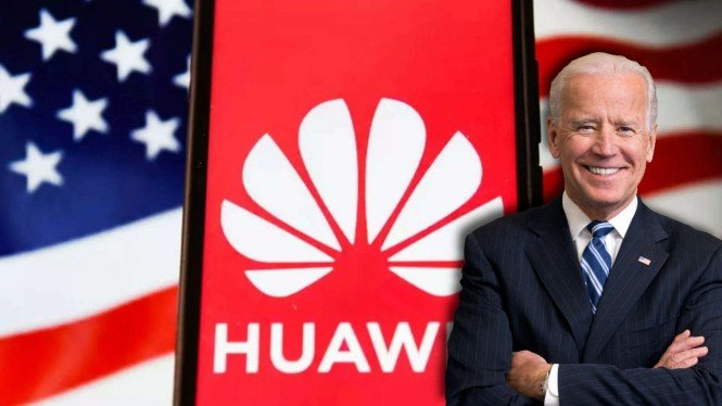 Huawei dan Presiden AS Joe Biden.