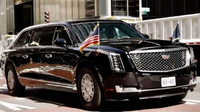 Mobil dinas Presiden AS 'The Beast'.