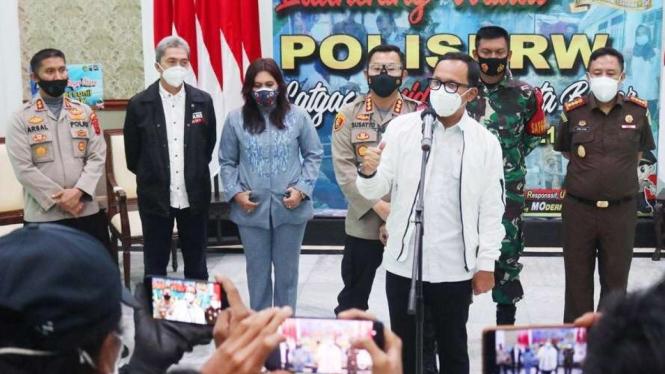 Wali Kota Bogor Bima Arya dalam peluncuran Polisi RW di Balai Kota pada Kamis, 21 Januari 2021.