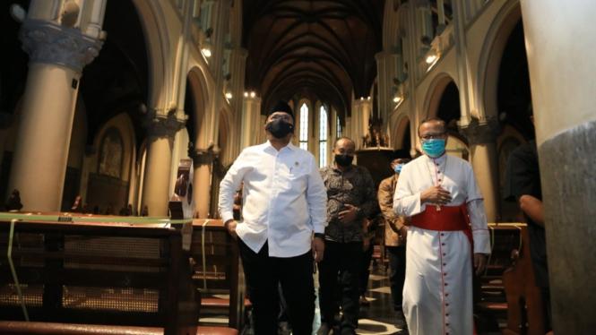 Menag Gus Yaqut temui Uskup Agung Jakarta Suharyo Hardjoatmodjo