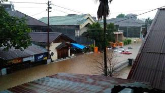 Banjir kembali landa Manado, Jumat, 22 Januari 2021.