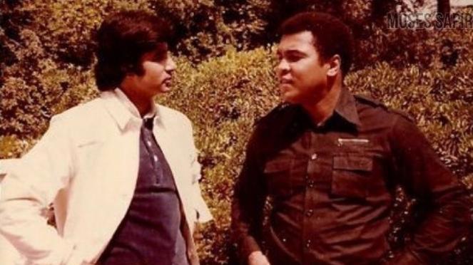 Amitabh Bachchan Berbagi Foto saat Bersama Legenda Tinju Muhammad Ali