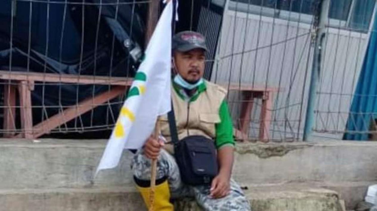 Ali Akbar, relawan kemanusiaan sekaligus korban yang selamat dari gempa Sulbar.