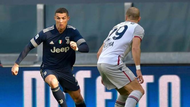 Juventus Hajar Bologna di Serie A
