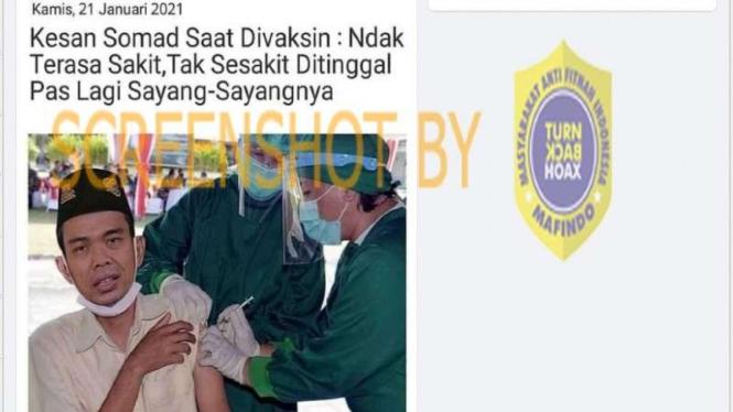 Hoax kesan Ustaz Somad usai divaksin corona