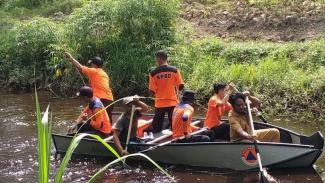 Pencarian Sugiyanti di Jambi yang diduga diterkam buaya