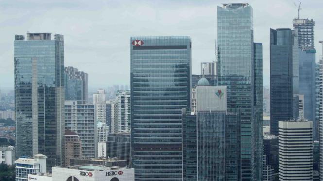 Ilustrasi Gedung Perkantoran Jakarta