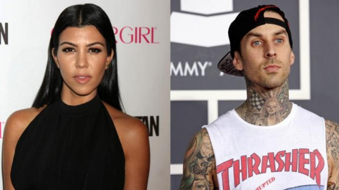 Kourtney Kardashian dan Travis Barker.