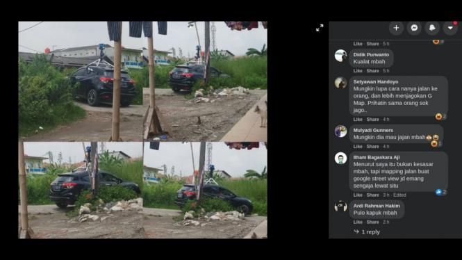 Mobil Google Maps jadi viral di media sosial