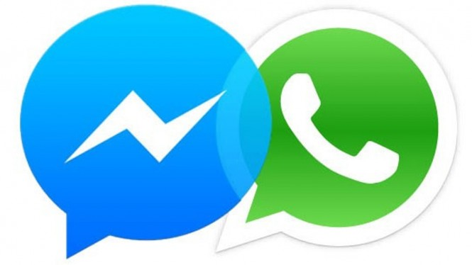 Facebook Messenger dan WhatsApp.
