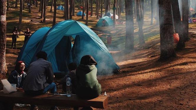 Camping di Batu Kuda Manglayang, image by IG : @prawirahmad