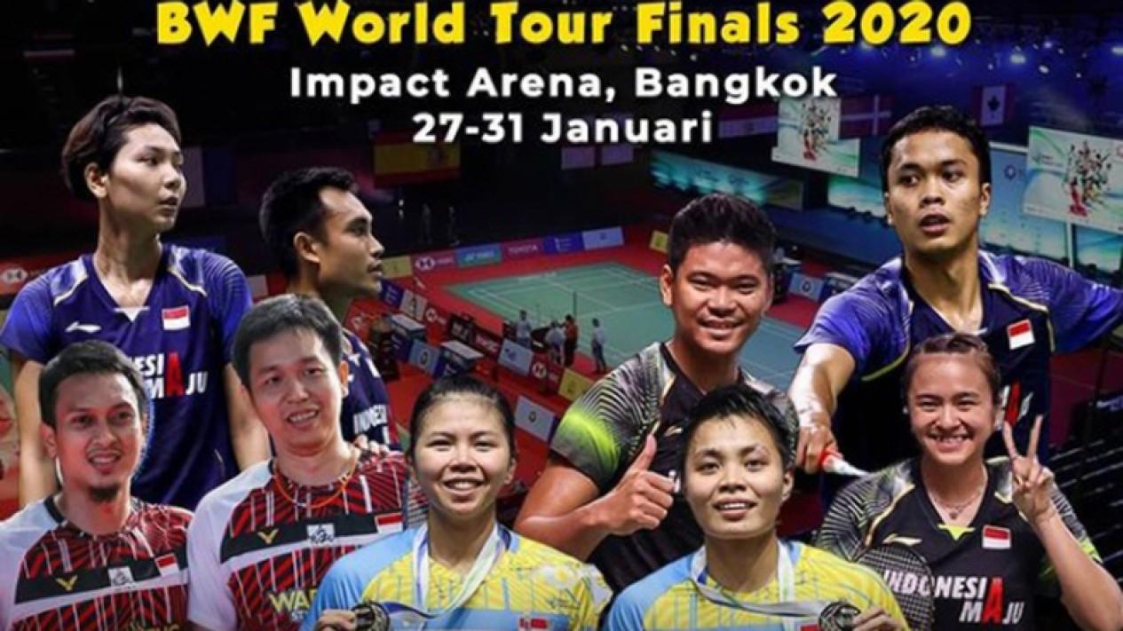 Para pebulutangkis Indonesia yang berlaga di BWF World Tour Finals 2020.