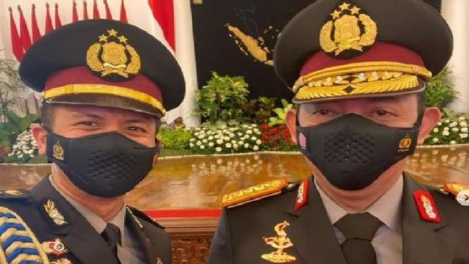 Asisten Ajudan Jokowi selfi bersama Kapolri Jenderal Listyo Sigit