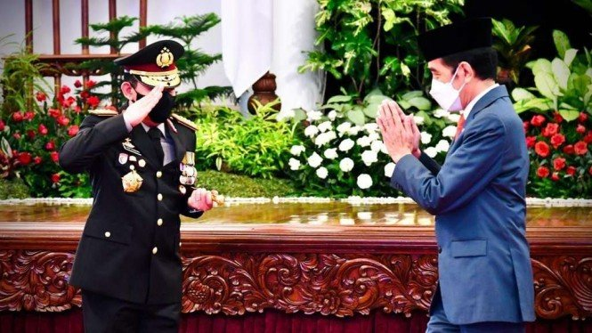 Kapolri Listyo Sigit dan Presiden Jokowi