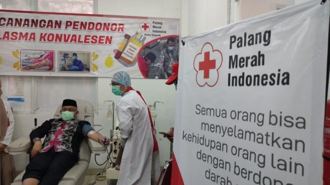 Wali Kota Depok Mohammad Idris Donor Plasma Konvalesen