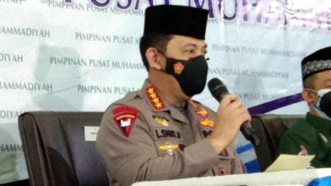 Kapolri Listyo Sigit berkunjung ke kantor PP Muhammadiyah.