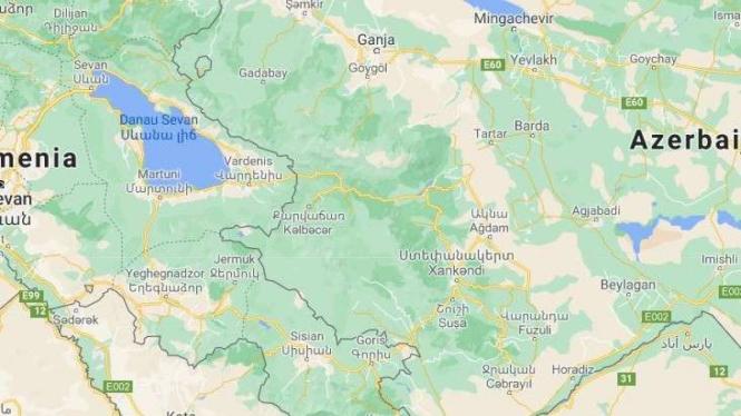 Peta Nagorno Karabakh (Armenia dan Azerbaijan)