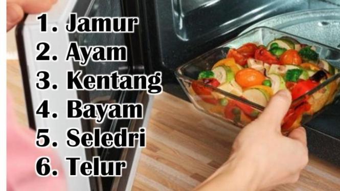 6 jenis makanan yang tidak bisa dipanaskan kembali