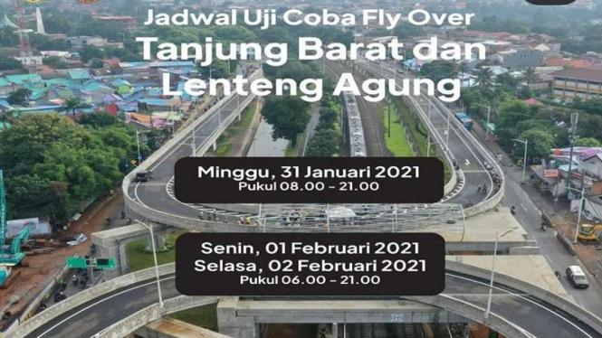 Flyover Tanjung Barat-Lenteng Agung dilakukan uji coba