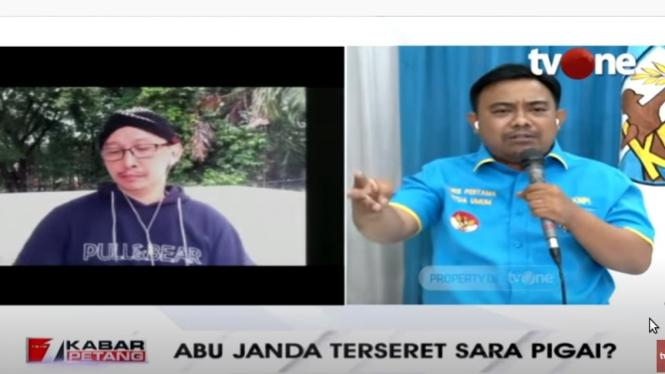 Debat panas Abu Janda dengan Ketum KNPI Haris Pertama