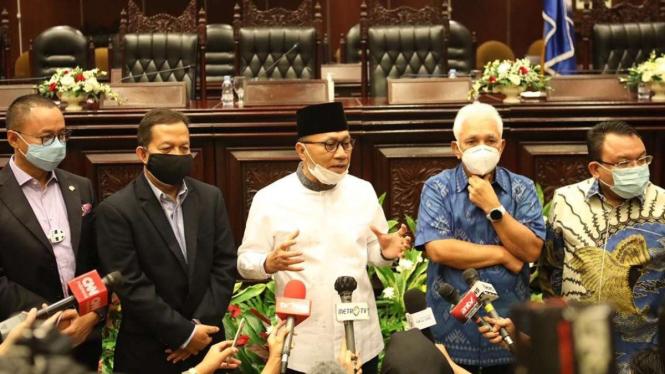 Zulkifli Hasan, Hatta Rajasa, Soetrisno Bachir, Eddy Soeparno dan Saleh Daulay