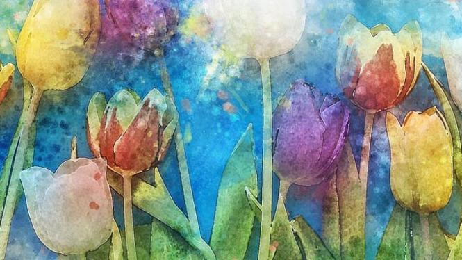 Lukisan Bunga sumber foto Pixabay