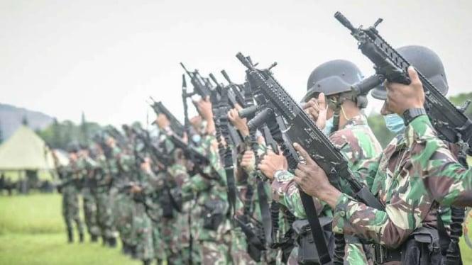 VIVA Militer: Pasukan Pengawal Khusus Kementerian RI latihan di Pusdiklatpassus