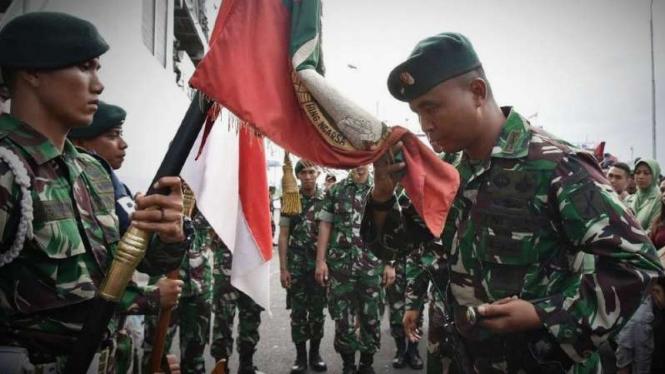 VIVA Militer: Pasukan Yonif Raider 712/Wiratama.
