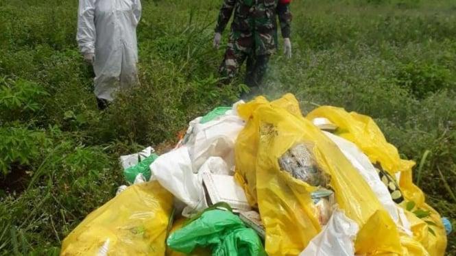 Sampah APD dibuang sembarangan hingga 17 karung