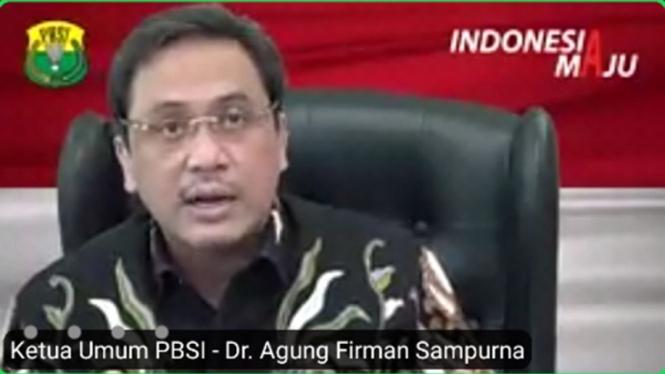 Ketua Umum PP PBSI periode 2020-2024, Agung Firman Sampurna.