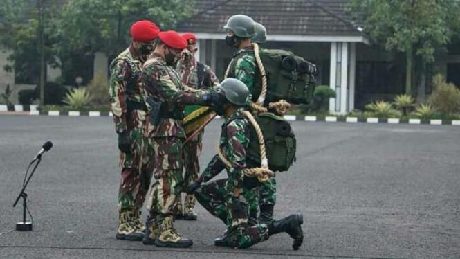 VIVA Militer: Danjen Kopassus buka latihan Komando Kopassus di Pusdiklatpassus