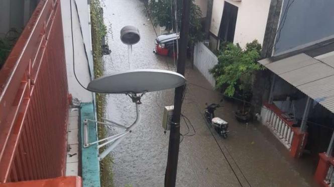 (ILUSTRASI) Banjir rendam perumahan di Bekasi, Jabar