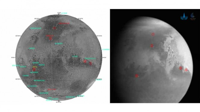 Penampakan terbaru Planet Mars yang difoto Tianwen-1 China.
