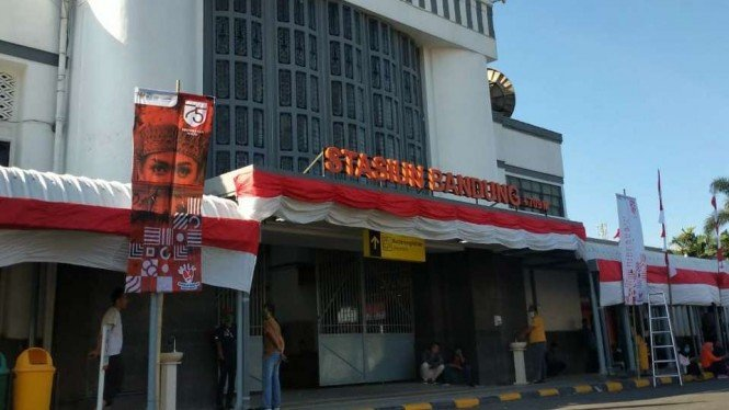 Stasiun kereta api Bandung, Jabar, Rabu, 10 Februari 2021.