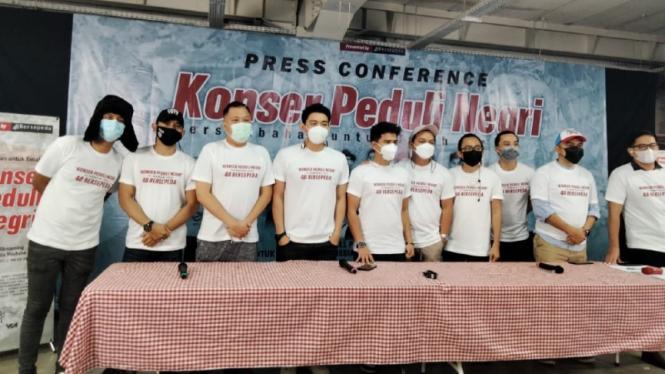 Konferensi pers Konser Peduli Negeri.