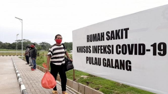 Rumah Sakit Khusus Infeksi (RSKI) Pulau Galang di Kepulauan Riau (antara)