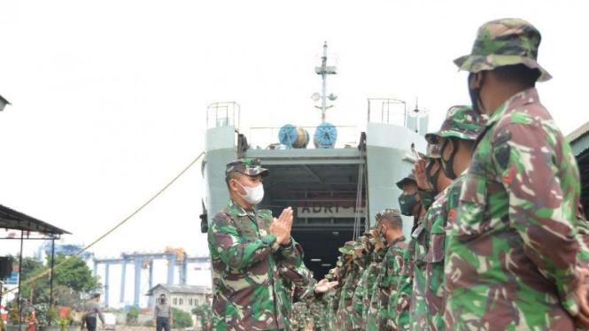 VIVA Militer: Satgas Gulben Kalimantan Selatan tiba di Jakarta