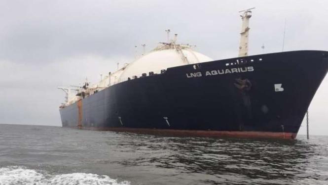 Kapal LNG (Liquefied Natural Gas) Aquarius yang disita Kejaksaan di kasus Asabri