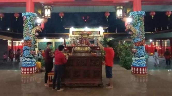 Perayaan Imlek 2572 di Vihara Avalokitesvara Banten Lama.