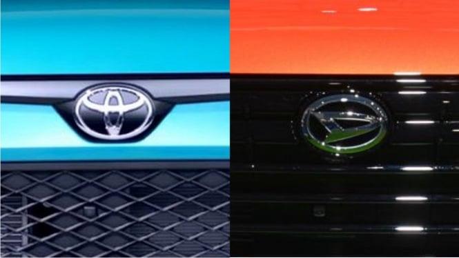 Logo mobil Toyota dan Daihatsu