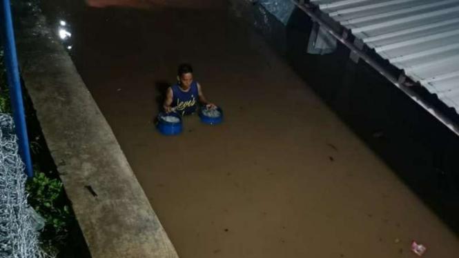 Banjir di Nganjuk, Jawa Timur.