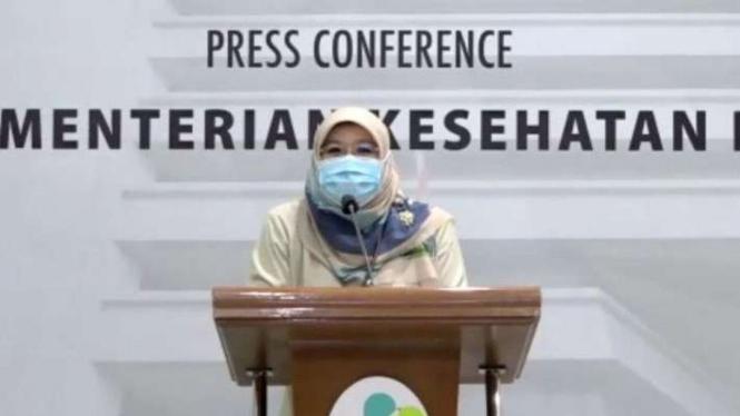 Tangkapan layar Juru bicara vaksinasi dari Kemenkes dr Siti Nadia Tarmizi.