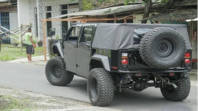 Mobil Rantis Maung milik Bupati Jember terpilih Hendy Siswanto