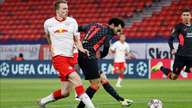 Masih Tanpa Gol 0 - 0 di Babak I Liverpool Vs Leipzig
