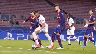 Kylian Mbappe saat mengobrak-abrik Barcelona