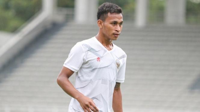 Osvaldo Haay dalam pemusatan latihan Timnas Indonesia
