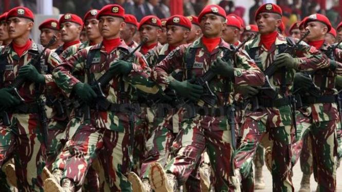 VIVA Militer: Prajurit Komando Pasukan Khusus (Kopassus) TNI Angkatan Darat