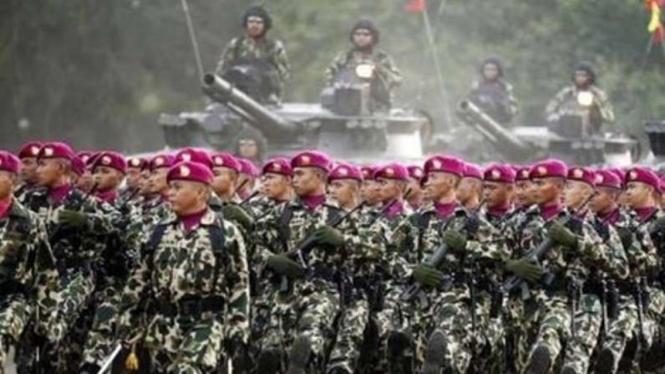 VIVA Militer: Anggota Korps Marinir TNI Angkatan Laut