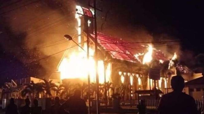 Kebakaran di Gereja di Halmahera.