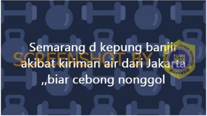 Narasi hoax soal banjir Semarang karena dikirim dari Jakarta